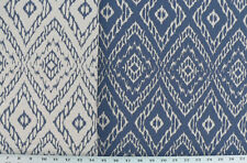 Drapery Upholstery Fabric Strie Striped Reversible Diamond  Ikat - Royal Blue