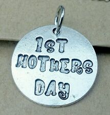 1ST Mother's Day Charm Pendant Gift for New MOM fit Necklace Bracelet Keychain