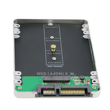 "M.2 NGFF SATA SSD to 2.5"" SATA 3 Adapter w/ External Enclosure Case For Laptop"