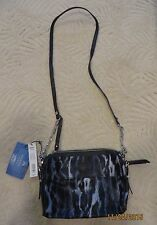 NWT Simply Vera Wang Crossbody Bag Purse  Navy Leopard Black Blue $59