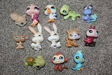 Littlest Pet Shop Lot of 13 Animals LPS Pets Bird Monkey Dog Bunny Crab Toys Fun