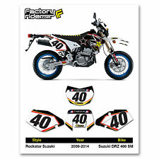 2000-2014 SUZUKI DRZ 400 SM Rockstar Dirt Bike Graphics Custom Number Plates