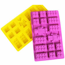 Silicone brick & Robot ICE Cube Chocolate Cake Soap Mold Molds For Lego Lover