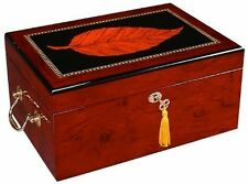 Quality Importers - Deauville Leaf Inlay Humidor - HUM-100TY