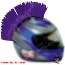 Purple Helmet Mohawk Hair Stick On Biker Ski Motorcycle Bike Race ATV MX  BMX +