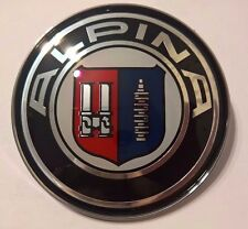 NEW Design laquer Car Emblem BMW Alpina Front Badge Hood Logo 82mm 2 Pins