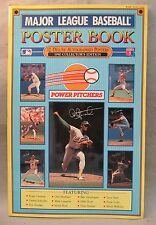 1990 POWER PITCHERS Major League Baseball Poster Book.  large unused