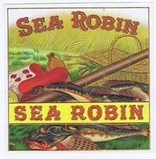 Sea Robin, original outer cigar box label, fish