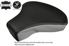 GREY & BLACK CUSTOM FITS PIAGGIO VESPA CIAO BRAVO 50 FRONT LEATHER SEAT COVER