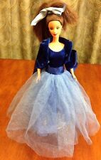 HOLIDAY BARBIE DOLL ROYAL BLUE GOWN CHRISTMAS OUTFIT BOOTS JACKET