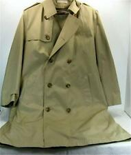 Misty Harbor Mens Ladies Khaki Double Breasted Trench Coat 38R Beige Tan Liner