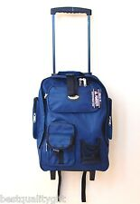 NEW AMBER NAVY BLUE PVC MULTI PURPOSE PEGGY CASE,ROLLER BACKPACK,CAMPING LUGGAGE