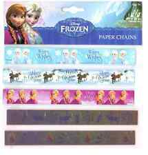 DISNEY FROZEN CHRISTMAS PAPER CHAINS 100 GUMMED MAKE YOUR OWN PARTY DECORATIONS