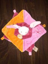 Baby Nat Schmusetuch Kuscheltuch Doudou Hase Rabbit Pink Rosa Orange Weiß France
