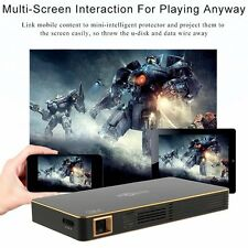 Android Ultra-Thin Home Theater Projector Mini Portable Wifi Smart Projector +RC