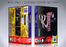 RESIDENT EVIL 2. ENGLISH. Box/Case. Nintendo 64. BOX + COVER. (NO GAME).