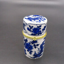 Brand New Chinese Vintage Porcelain Storage Box Jewelry/Toothpick Holder