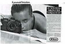 Publicité Advertising 1985 (2 pages) Appareil photo Nikon F301