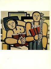 "1976 Vintage FERNAND LEGER ""THE READERS"" FABULOUS MODERN COLOR offset Lithograph"