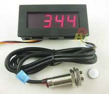 Tachometer Drehzahlmesser RPM Speed Meter Digital LED + Hall Proximity Switch R