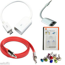 ✔ 5 in 1 COMBO Micro USB OTG Cable,Aux Cable,Y Splitter,Sim Adapter,Dust Plug✔