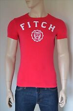 NEW Abercrombie & Fitch Jay Range Heritage Logo Graphic Tee T-Shirt Pink S