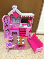 Barbie Doll Sisters Cozy Cabin Snow Winter Family Build Up House Dollhouse