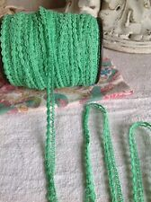 Vintage Trim Green Lace 5 Yd Ballet Dolls Home Furnishings Vintage Wedding NOS