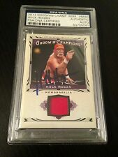 2013 UD Goodwin Champions Hulk Hogan Worn Shirt Signed Auto PSA/DNA Slabbed #2