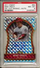 MIKE TROUT 2011 FINEST RC ROOKIE SILVER PRIZM DIE CUT REFRACTOR /10  AUTO RARE!