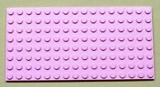 x1 NEW Lego Pink Baseplate Base Plate 8 x 16 Brick Building HARD BACK STYLE