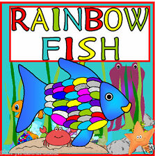 RAINBOW FISH TEACHING RESOURCES KS1 2 EYFS ALL ABOUT ME EMOTIONS  FOR STORY SACK