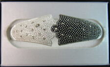 """Marsala """"Bracelet"""" XB0109235 Marcasite And Clear Crystal In Base Metal Two"""