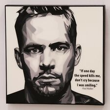 Paul Walker canvas quotes wall decals photo painting framed pop art poster