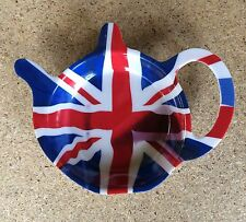 British English England Union Jack Tea Bag Holder Acrylic Hard Durable Plastic