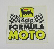 Vecchio Adesivo da Collezione /Old Sticker AGIP FORMULA MOTO (cm 5 x 5)