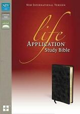 NIV LIFE APPLICATION STUDY BIBLE, BLACK BONDED LEATHER - NEW