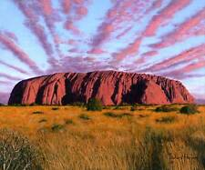 "ORIGINALE Richard harpum ""ULURU SUNSET Ayers Rock Australia CENTRALE"" PITTURA"