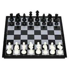 Portable Travel Magnetic Wooden Board Tournament Chess Set Wood Pieces New