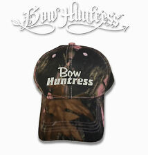 Bow huntress Hat bow hunting pink camo cap womens hunter compound bow archery