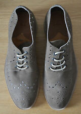 PAUL SMITH Mens brown suede brogues Lymon Perforated leather shoes UK 10