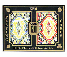 "KEM "" PAISLEY "" Plastic Playing Cards CASINO POKER ROOM BRIDGE REGULAR INDEX *"