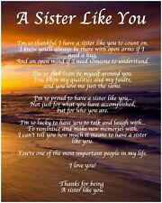 Personalised A Sister Like You Poem Birthday Christmas Gift Present