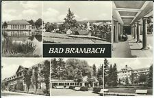 Ansichtskarte Bad Brambach - Ortsansicht, Parkanlage, u.a. - schwarz/weiß