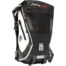 MotoDry NEW DryPak 20 Back Pack Bag Motorcycle 100% Waterproof Black Backpack