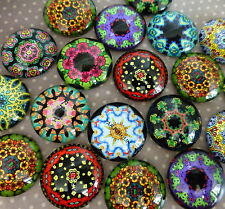 20 pcs  Glass Domed round Cabochons mix oriental pattern, size 20mm