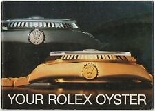 YOUR ROLEX OYSTER 1987 Vintage Booklet 1665 1655 1680 6263 6240 Submariner OEM