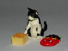 Yujin Cat Kitten in the World eating the bean gashapon figure ( 1 figure)