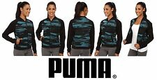 PUMA Blurred Bomber Sweatshirt Jacket Coat Colonial Blue Women's Small (S) NWT