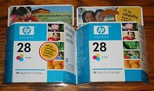 Set of 2 HP 28 Tri-Color Ink Cartridges - New in unopened packages